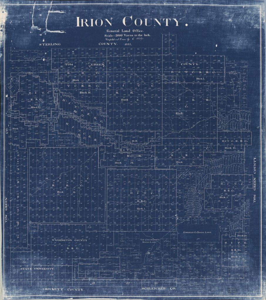 Irion Co. Map